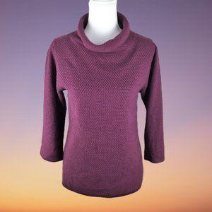 Boden Cowl Turtleneck Burgundy Sweater Size 8